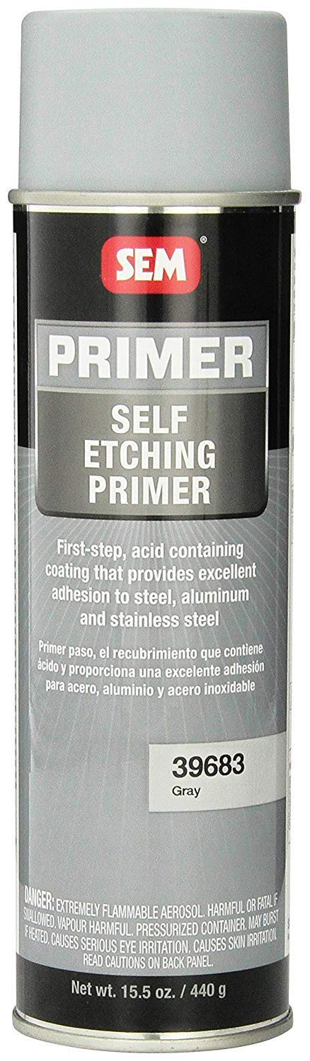 SEM 39683 Grey Self Etching Primer - 15.5 oz. (12 Pack)