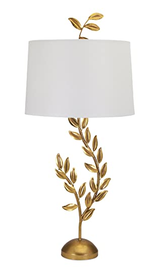 Amazon imax 98556 jenkins gold leaf table lamp home kitchen imax 98556 jenkins gold leaf table lamp aloadofball