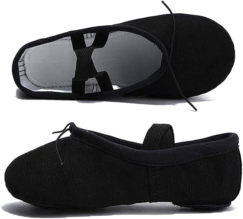 Nexete Men Ballet Dance Yoga Gymnastics Split-Sole Canvas Adult Shoes Slipper