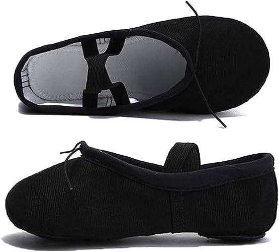 Amazon.com: Zapatillas de ballet para mujer y niña, de lona ...