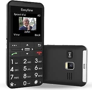 Easyfone Prime-A7 Teléfono Móvil para Personas Mayores con Teclas Grandes y botón SOS, GPS, Fácil de Usar Móviles para Ancianos con Base cargadora (Negro): Amazon.es: Electrónica