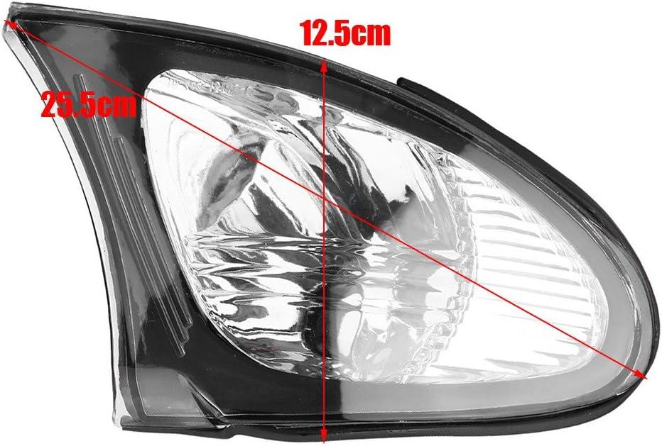 Light Cover transparente Linse f/ür E46 3-Series 4DR 2002-2005 Zerone Ecklichtlampen Turn Light