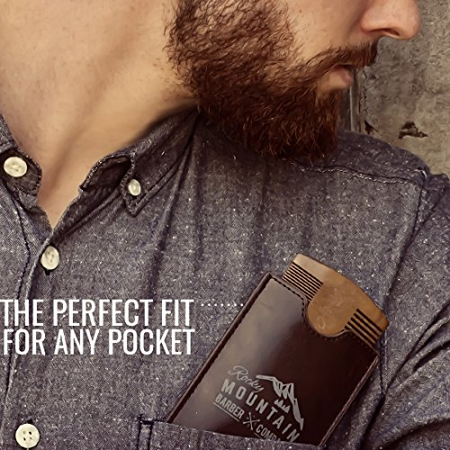 Beard Comb - Natural Sandalwood for Hair with Scented Fragrance Smell with Anti-Static - Handmade Fine Tooth Brush Best for Beard Moustache Packaged in Giftbox by Rocky Mountain Barber Company (Image #5)