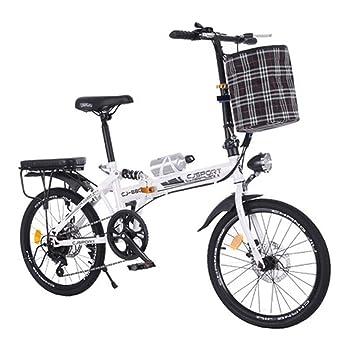 LETFF Bicicleta Plegable para Adultos 20 Pulgadas Velocidad Variable Freno De Disco Doble Estudiante Hombres Y