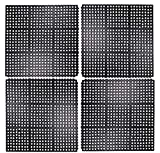 Iron Gate 4 Piece Interlocking Anti-Fatigue Tile Rubber Restaurant Mat - 100% Solid Rubber - Size 3 feet x 3 feet Square - Heavy Duty Rugged Commercial Professional Grade Construction