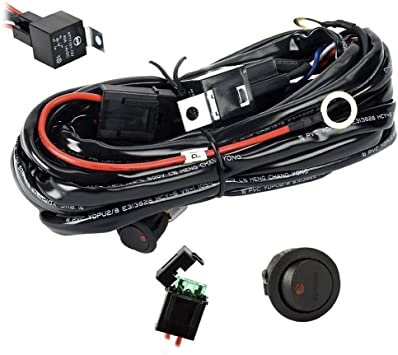 Amazon.com: SAFU Universal 1 Lead Wire Harness Relay Kit 3M For Led Light  Bar 300W Work Lamps With On Off Switch 12V 40A Driving Lights Offroad SUV  ATV Light Bar Accessories: AutomotiveAmazon.com