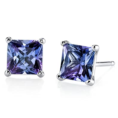 silver gem june alexandrite earring delicate changing earr gemstone earrings gift stud sterling everyday womens products birthstone color birthday