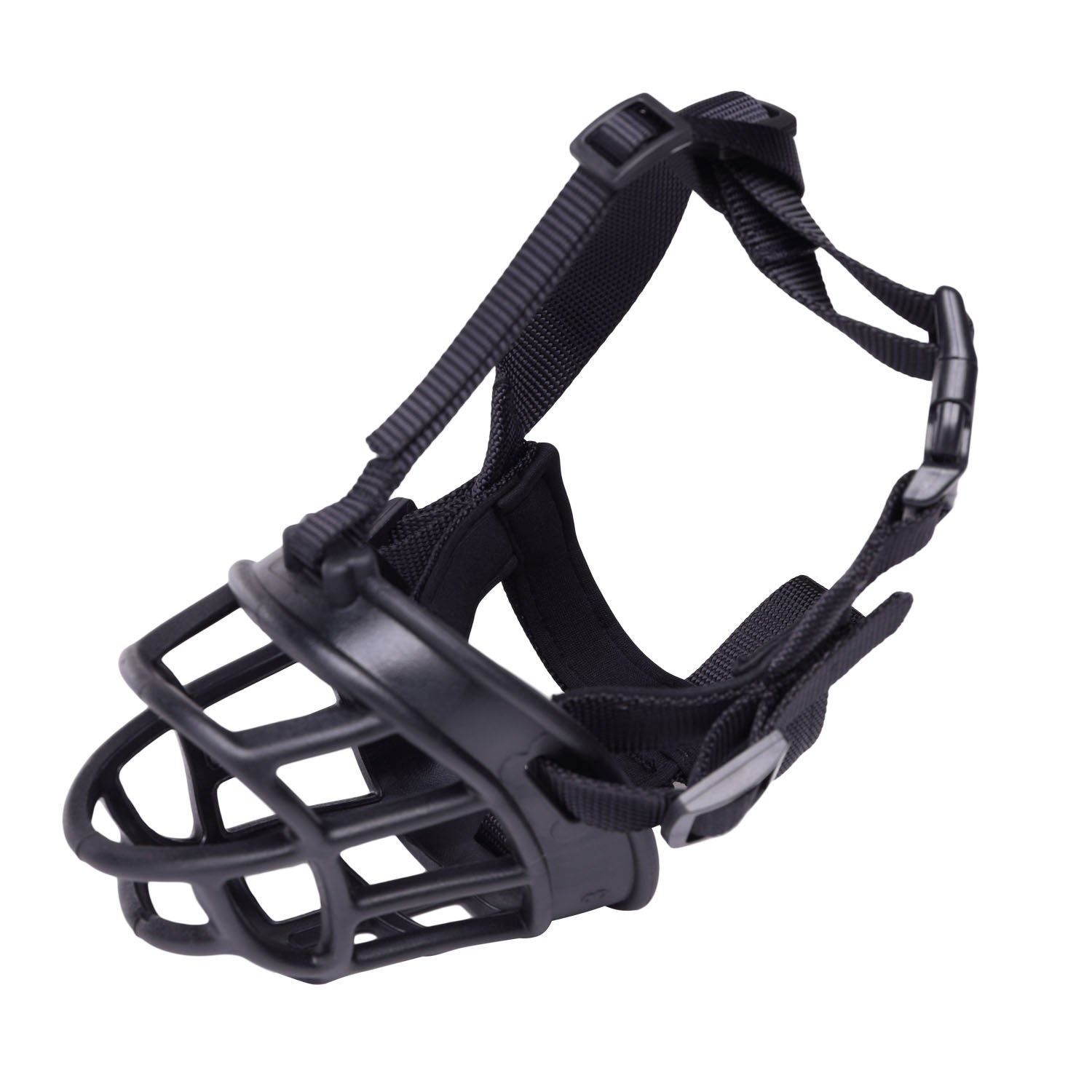 PetAZ Dog Muzzle Soft Rubber Basket Muzzles for All Size Dog, Silicone Dog Basket Muzzles Breathable Adjustable to Prevent Biting, Chewing and Barking (Size 3)