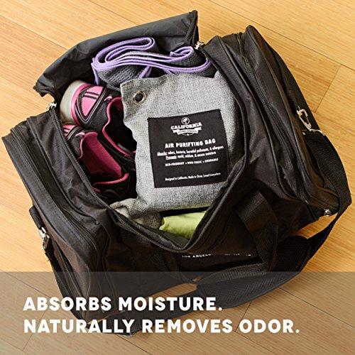 [해외]캘리포니아 홈 제품 4 팩 - 200g 활성탄 탈취제 냄새 중화제 가방, 무 향료 공기 청정제, 자동차 용 청정제, 수분 흡수기, 10/California Home Goods 4 Pack - 200g Activated Charcoal Deodorizer Odor Neutralizer Bags, Unscented Air Freshener,...