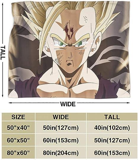 130 x 100 cm SEMZUXCVO Dragon Ball Z Manta de picnic