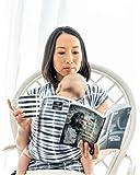 HUG A BUB: Baby Carrier Sling wrap - 100% Organic Cotton Lightweight - Watercolour Grey