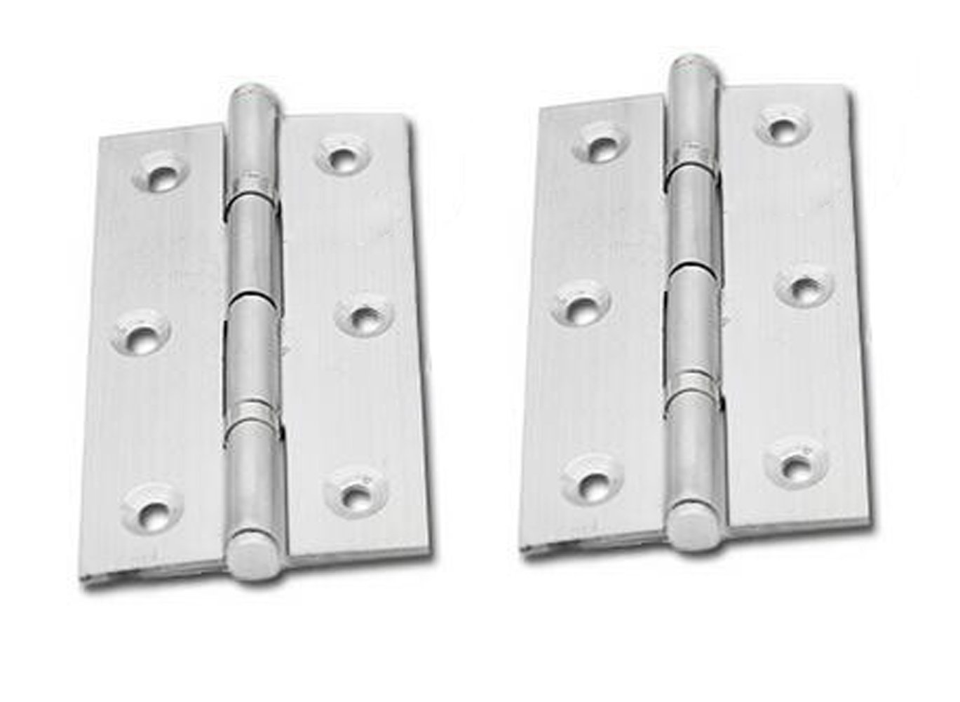 Elandy 10Pcs Stainless Steel Folding Butt Hinges Silver Tone Home Furniture Hardware Door Hinges 3inch