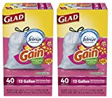 Glad OdorShield Trash Bags in Island Fresh Scent provide strength plus odor control, to keep your home smelling fresh and clean. These kitchen garbage bags are made with OdorShield technology and Febreze with Gain Island Fresh for guaranteed 5 day od...