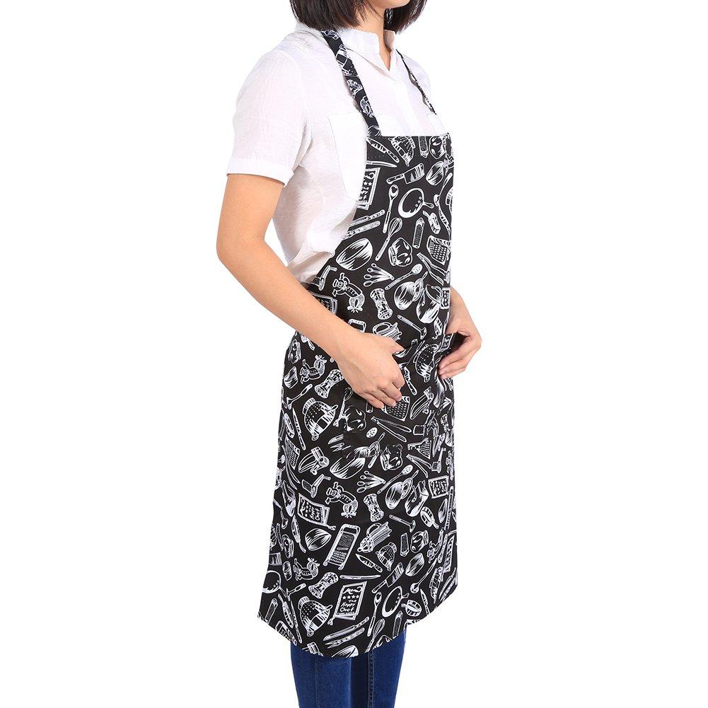 #5 Grembiuli da cucina professionali impermeabili regolabili del ristorante del caff/è Vestiti convenienti delle donne degli uomini con le tasche Grembiule Barbecue