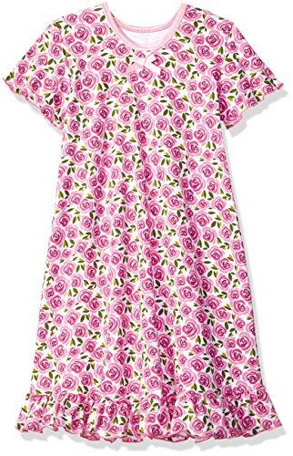 Sara's Prints Big Girls' Short Sleeve Nightgown, Sweet Rose-SRO, 14 (Nightgown Print)