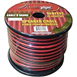 8 GA Gauge Red Black 2 Conductor Speaker Wire Audio Cable Audiopipe 100 Feet