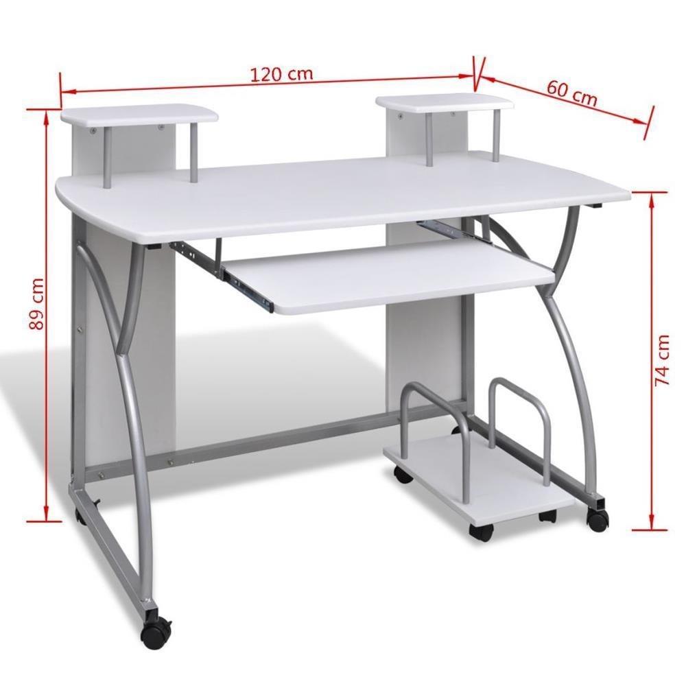 Generic * g - Mesa de Ordenador portátil con Ruedas para Ordenador ...