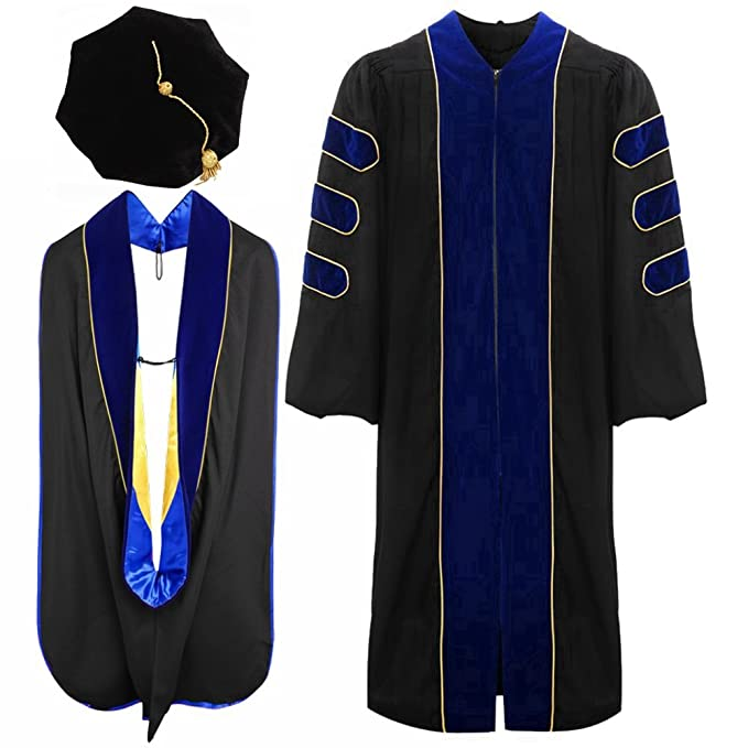 Deluxe Doctoral Graduation Gown Hood and Tam Package: Amazon.ca ...