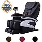 Electric Full Body Shiatsu Massage Chair Recliner w/Heat Stretched Foot Rest 06C- Black