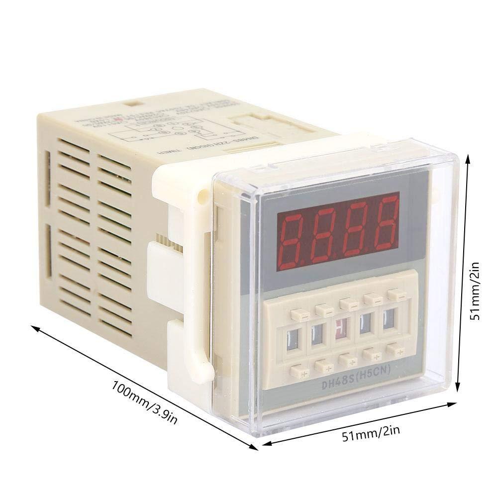 O111ROM DH48S-2ZH M/ódulo de rel/é de tiempo digital LCD temporizador de 8 pines rel/é de retardo de visualizaci/ón digital dispositivo 0.01S-99H99M retardo