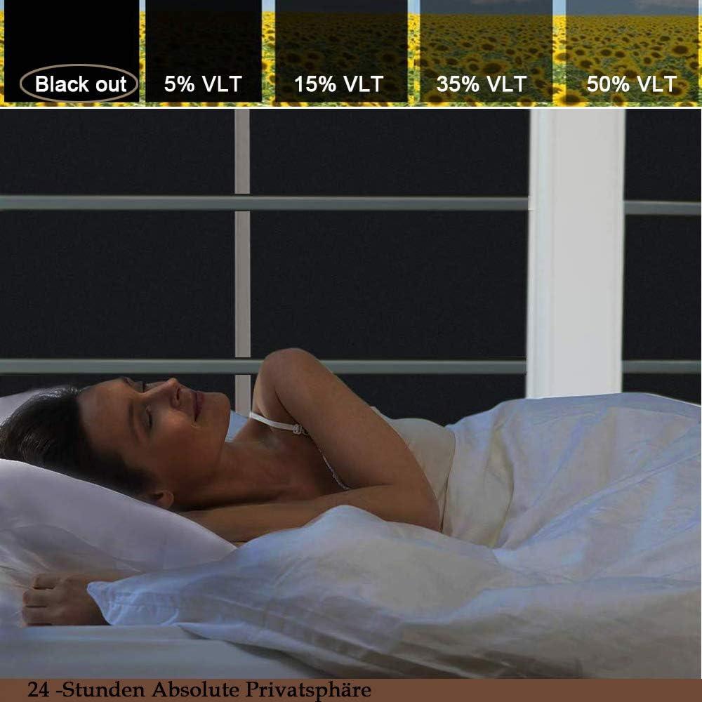 Film Fenetre Anti Regard Occultant Fen/être Film Electrostatique Opaque pour Vitre Brise Vue Fenetre Bureau Maison Salle de Bain Chambre Cuisine