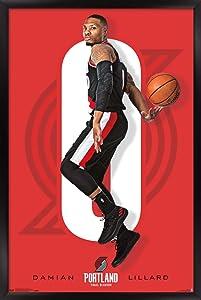 Trends International NBA Portland Trail Blazer - Damian Lillard Wall Poster, 22.375