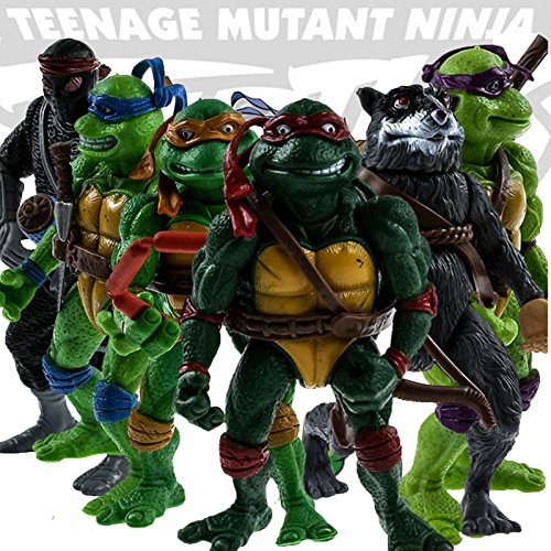[6pcs/lot Teenage Mutant Ninja Turtles Action Figures Classic Collection Toy Set] (Real Fx Masks)