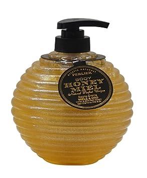 Perlier estuche Honey Miel baño Crema Miel y dorado 500 ml ...