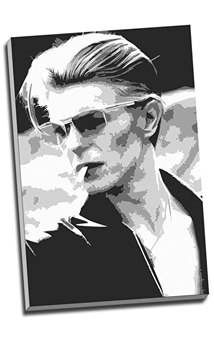 David bowie pop art black and white canvas print wall art picture canvas prints large a1
