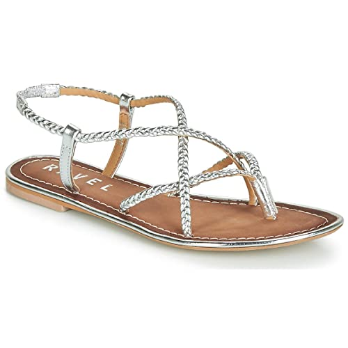 c1acdc8f3 Ravel Silver Holmes Leather Flat Sandals  Amazon.co.uk  Shoes   Bags