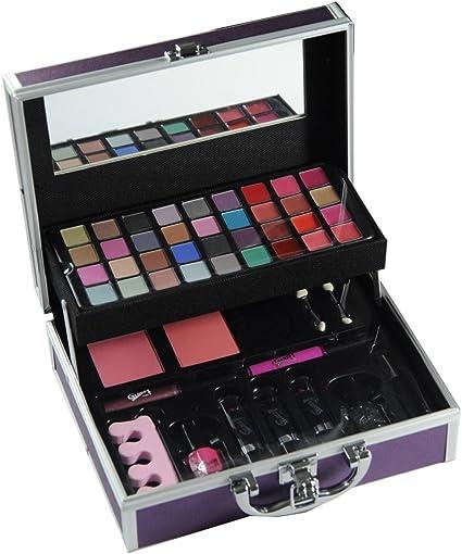 Gloss - caja de maquillaje, caja de regalo para mujeres - Estuche de maquillaje - de manera bonito Makeup- 46 Pcs: Amazon.es: Belleza