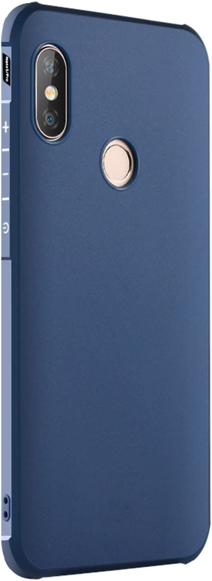 Tianqin Xiaomi Redmi Note5/Note 5pro Funda Ultra-Delgado Ligero Duradero Caso Protección TPU Parachoques Prueba Choque para Xiaomi Redmi Note5/Note 5pro Cubierta - Azul