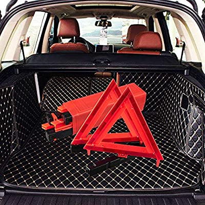 OLOVEBIRD Warning Triangle DOT Approved 3PK,Safety Reflective Vest Emergency Roadside Triangle: Automotive