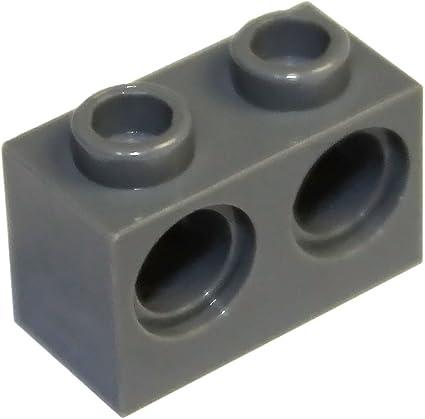 Light Bluish Gray Brick Round 2 x 2 Axle Hole TCM Compatible Bricks-QTY 50 pcs