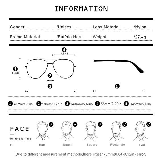 95d7ec2606e2 Amazon.com: HEPIDEM Handmade Horn Sunglasses Round Rimless Buffalo Horn  Luxury Sun Eyewear Spectacles 0817 (Coffee,Gold): Sports & Outdoors