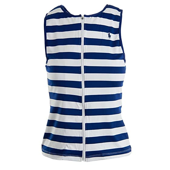 Polo Ralph Lauren Women\u0027s T-Shirt Swimwear Harbor Stripe Rashguard  Blue/White Small