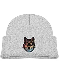 Deploeerad Kids Callous Wolf With Galaxy Knit Warm Beanie Hat Skull Cap