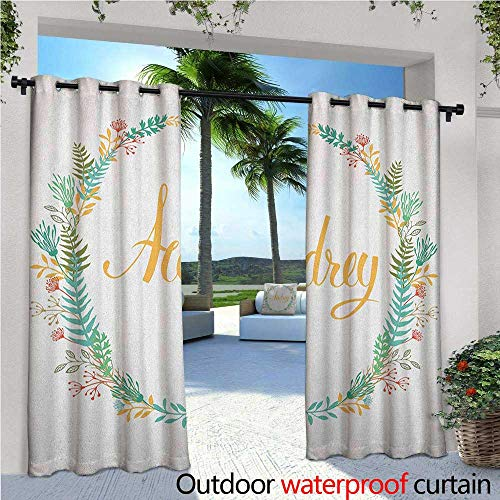 Signature Basketball Silver (familytaste Audrey Indoor/Outdoor Single Panel Print Window Curtain Retro Style Arrangement with Flourishing Nature Flowers and Leaves Signature Pattern Silver Grommet Top Drape W96 x L108 Multicolor)