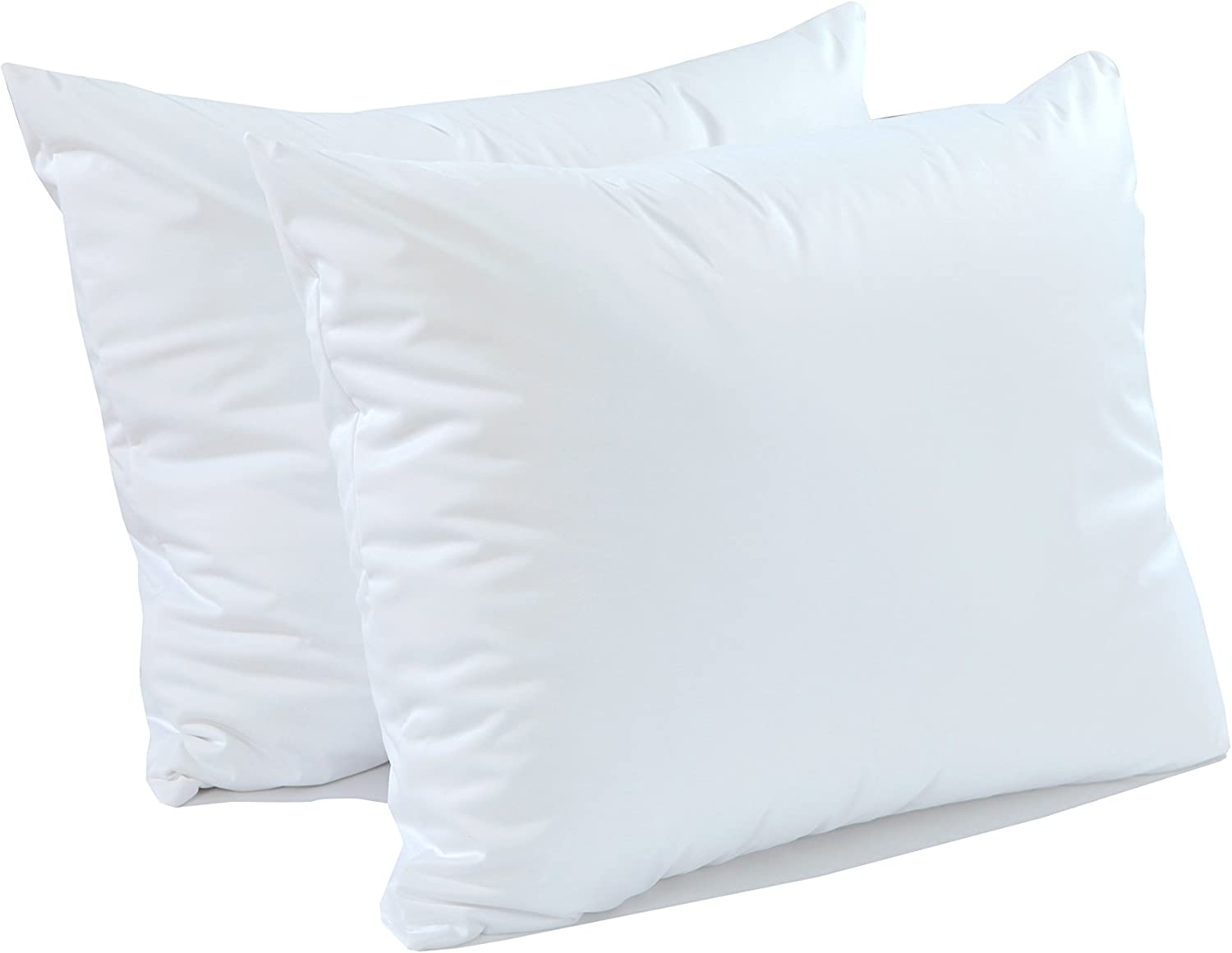 CALM NITE Pillow Protector 2 Pack - Extra Soft Knit - Waterproof Zippered Hypoallergenic Case, Blocks Bed Bugs and Dust Mites (Queen 2 Pack)