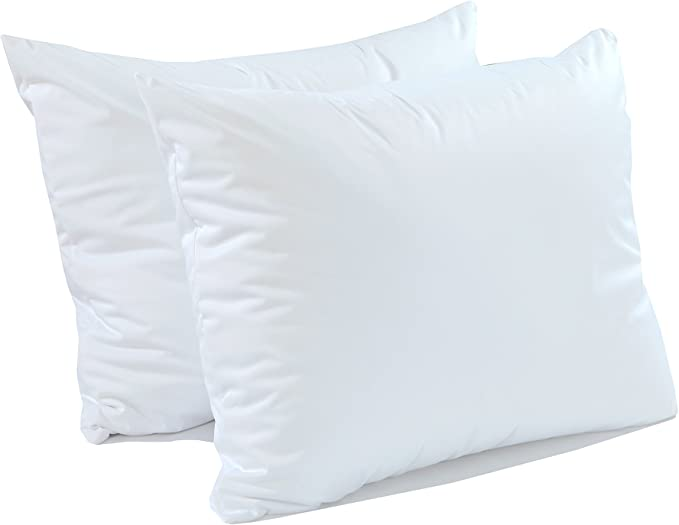 Calm Nite Pillow Protector 2 Pack Extra Soft Knit Waterproof Zippered Hypoallergenic Case Queen 2 Pack Home Kitchen Amazon Com