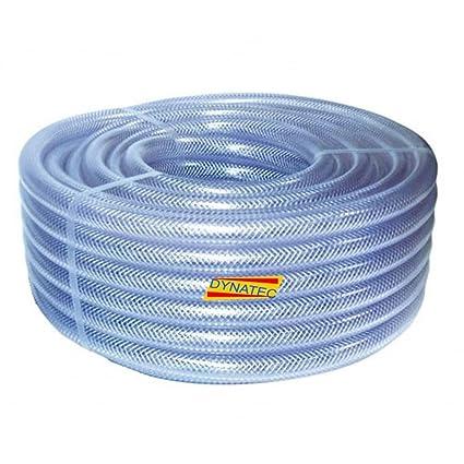 """Transparente Manguera Trenzada PVC 25mm (1"""") 30 Metros Bobina Agua, Compresor De"""