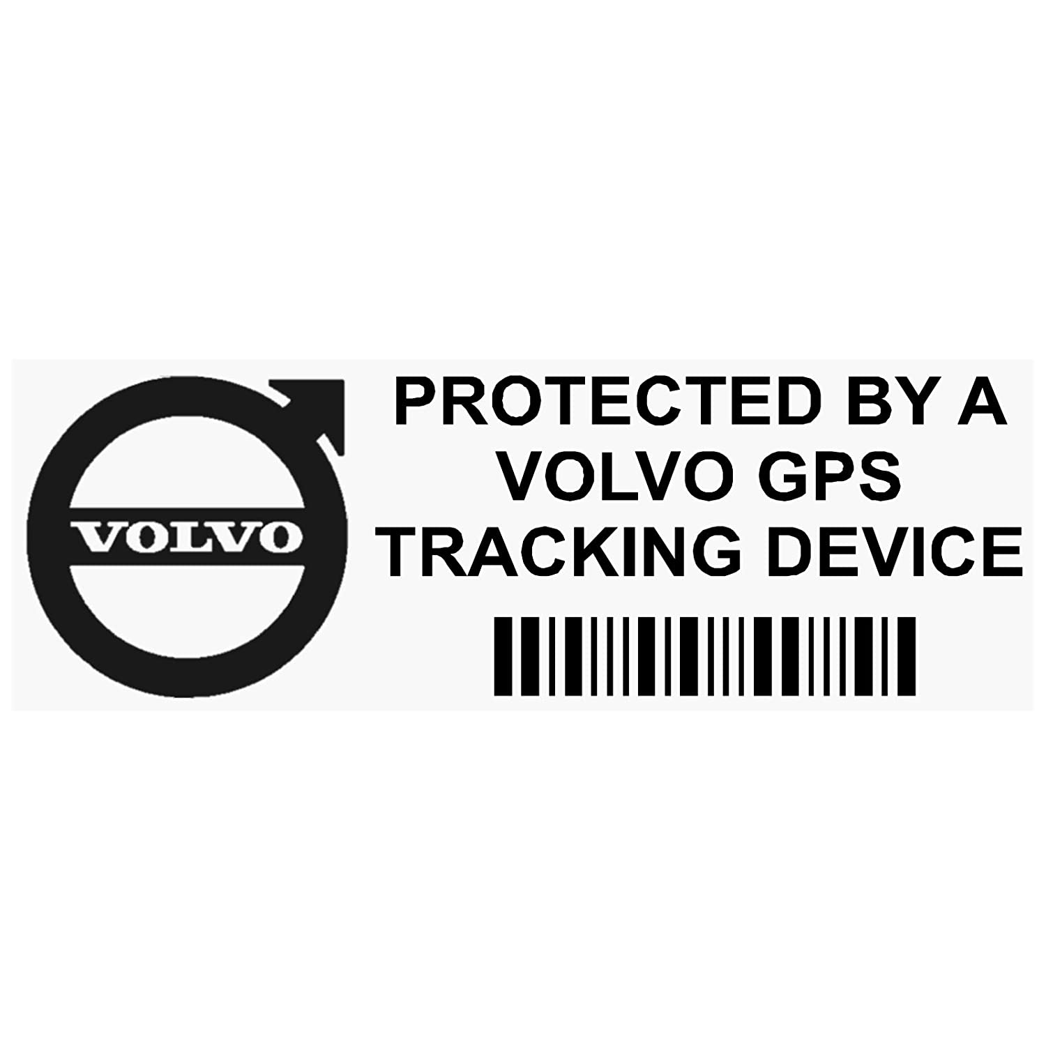 Platinum Place 5 x PPVOLVOGPSBLK GPS BLACK Tracking Device Security WINDOW Stickers 87x30mm-Car, Van Alarm Tracker