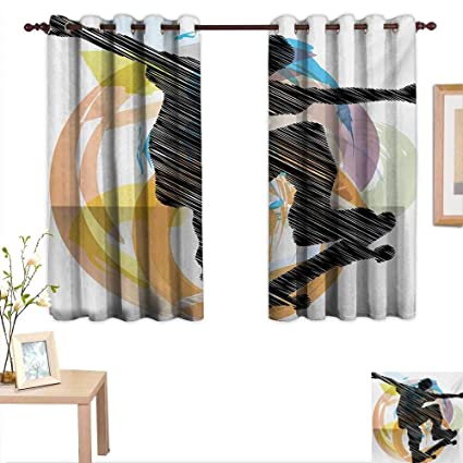 Miraculous Amazon Com Teen Room Decor Curtains By Abstract Grunge Download Free Architecture Designs Ogrambritishbridgeorg