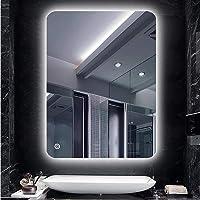 Turefans Espejo de baño,Espejo led,Frío Blanco (6400K)