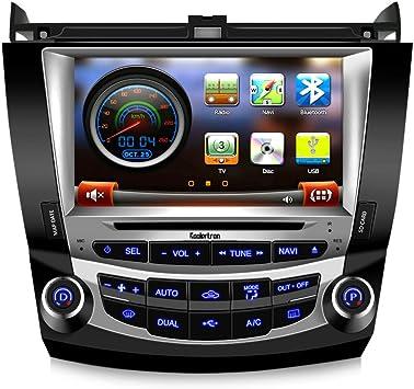 10.1 Pulgadas 16GB Android 9.0 Car Audio Navegaci/ón GPS para Honda Accord 7 2003-2007 Unidad Principal Control de A//C 1080P Video Bluetooth Espejo Enlace