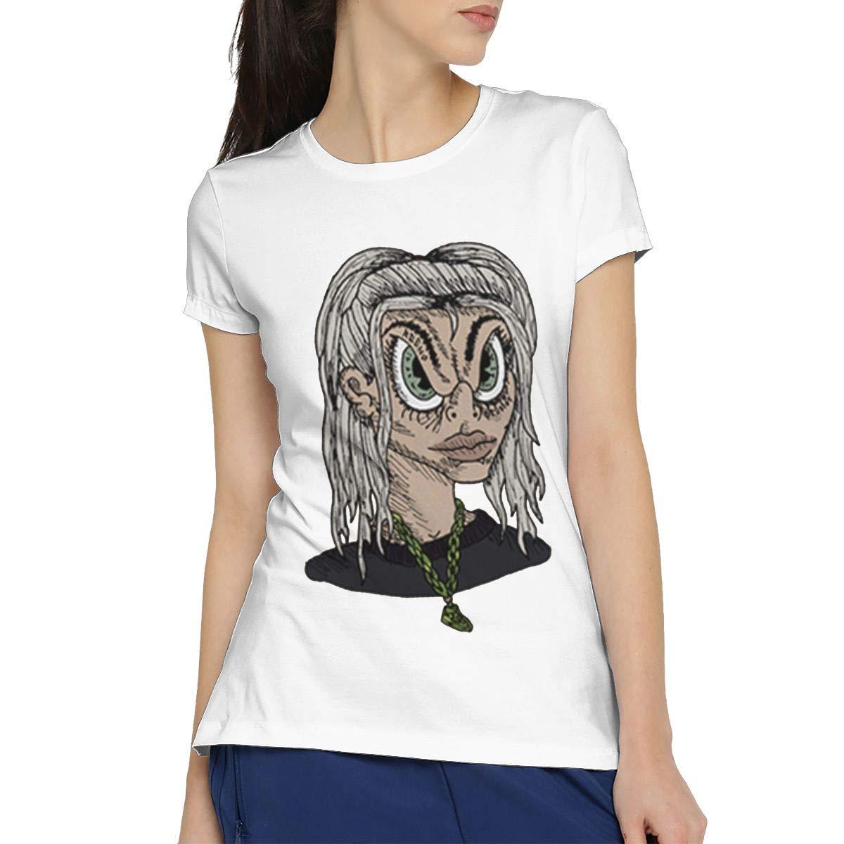 Clann Billie Eilish Cartoon Singer Short Sleeve Tshirt Tees