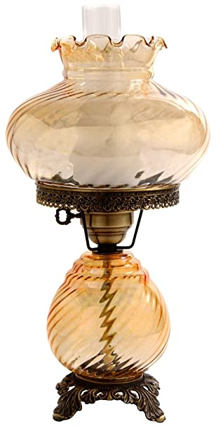 Amber swirl optic shade night light hurricane table lamp amazon amber swirl optic shade night light hurricane table lamp aloadofball Gallery