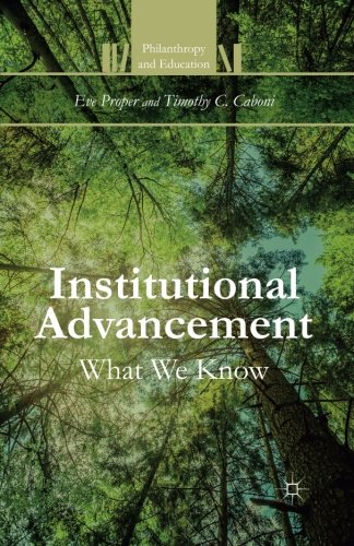 Institutional Advancement: What We Know (Philanthropy and Education)