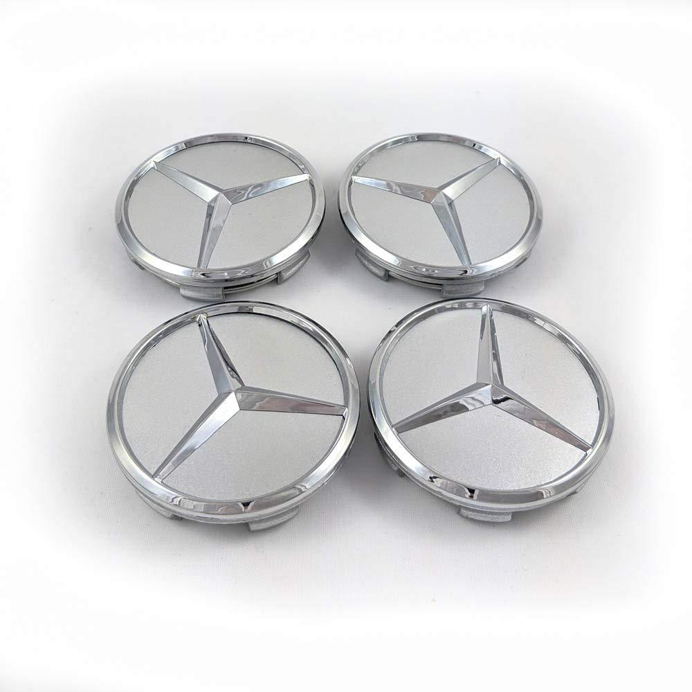 4 Pezzi Coprimozzo Stella 60 mm Grigio Ricambio per Mercedes Benz Copricerchi Copricerchi Coprimozzo Coprimozzo Wheel cap Coprimozzo Decorativo Hub cap 60 mm