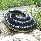Homdipoo Realistic Fake Rubber Toy Snake Black Fake